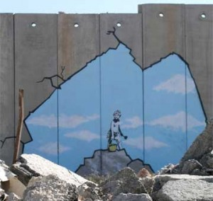 banksy on west bank wall