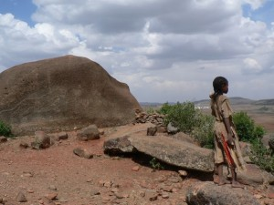 Girl in Ethiopia looking forward